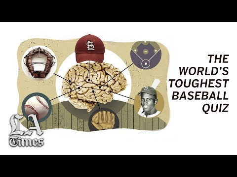 Many try, but few finish, the world's toughest baseball quiz
