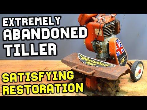 ABANDONED RUSTY TILLER RESTORATION