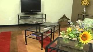 Black Bunch Metal Coffee Table By Southern Enterprises