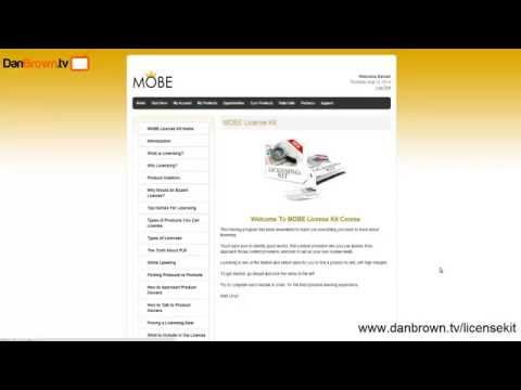MOBE License Rights Program Review of MOBE License Kit *Members Area Revealed*
