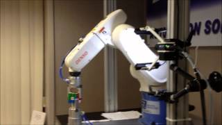 Denso 6 Axis Industrial Robot Solving a Rubik's Cube