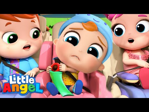 No No, I Dont Want The Seatbelt | Little Angel Nursery Rhymes & Kids Songs