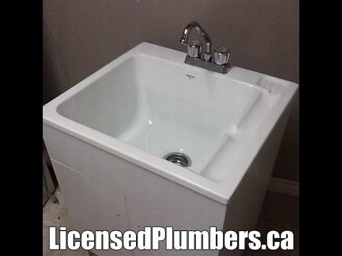 Mississauga Laundry Room Plumbing - YouTube