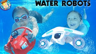 ROBOTS in WATER! Deep Sea Diving At Home! (FV Family Vlog)