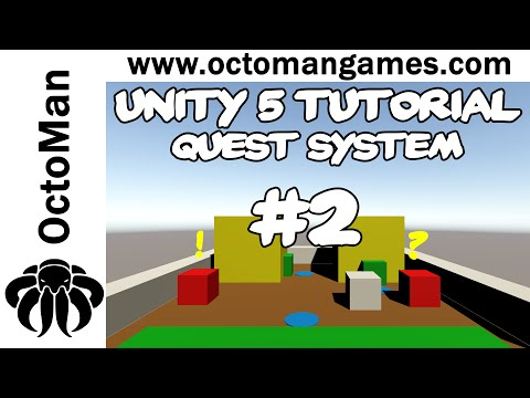Unity 5 Tutorial: Quest System #2 - Quest Manager & Quest Object