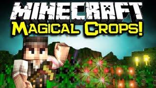 Minecraft MAGICAL CROPS MOD Spotlight! - Grow New Crops & Ores! (Minecraft Mod Showcase)