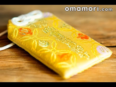 Omamori charm money business from temple of Kyoto in Japan