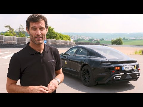 Mark Webber Drives Porsche Mission E On Test Track