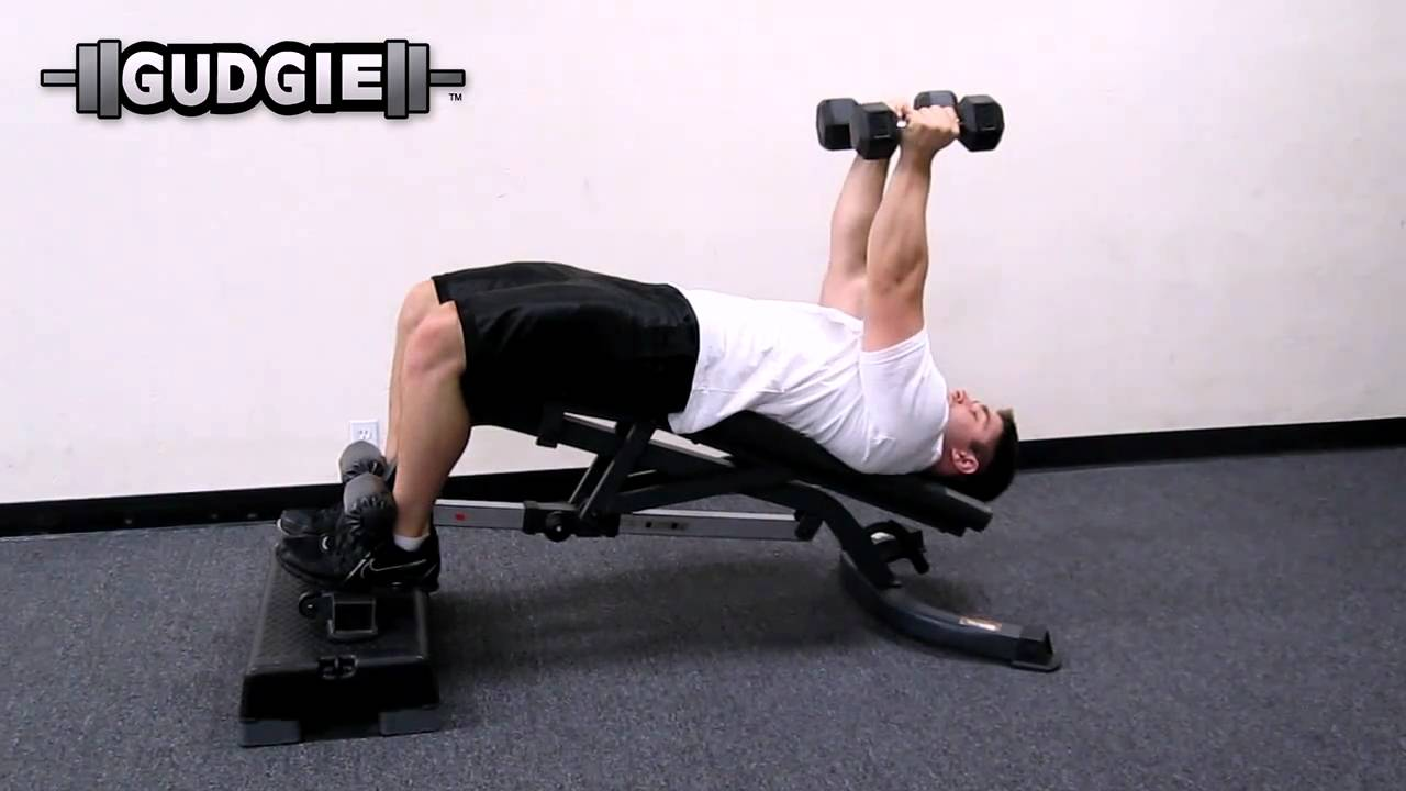 Dumbbell Fly Decline Bench Gudgie Youtube
