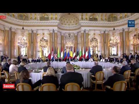 WOW: President Donald Trump GIVES an AMAZING SPEECH at Three Seas Initiative Summit w/ Andrzej Duda