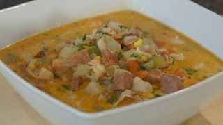 Cajun Crawfish Corn Chowder