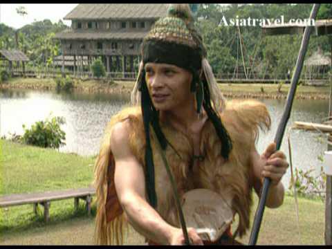 Iban Tribes Warriors of Sarawak, Malaysia by Asiatravel.com