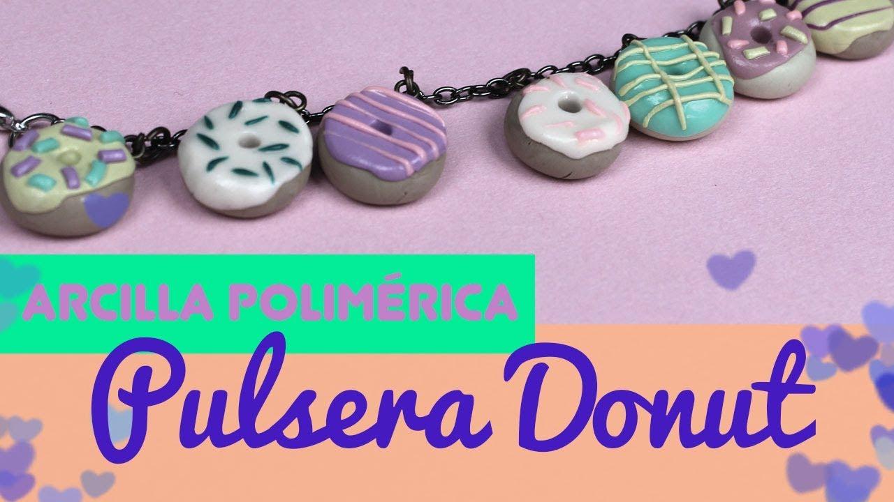 bf84f6dc17d5 🍩🍩 PULSERA de DONUTS de FIMO 🍩🍩 ¿Cómo hacer manualidades de donuts con  arcilla polimerica?