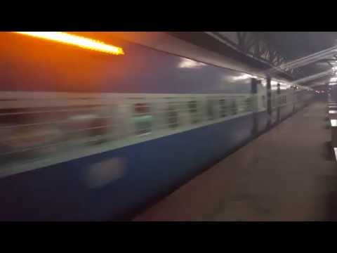 Indian Fast Train 155 KMPH Indian Railway Goa Express passing through Compliance!