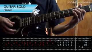 Talk Shows On Mute Incubus Guitar + Solo Tutorial (WITH TAB)