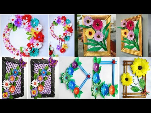 5 Easy Wall Hanging \\ Home Decor Ideas / Unique wall hanging ideas / Diy wall decor using newspaper