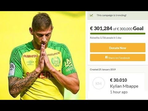 Search for Emiliano Sala is set to RESUME after £260,000 gofundme target is reached