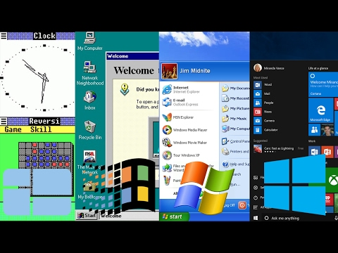 History of Microsoft Windows (Windows 1.0 - 10)