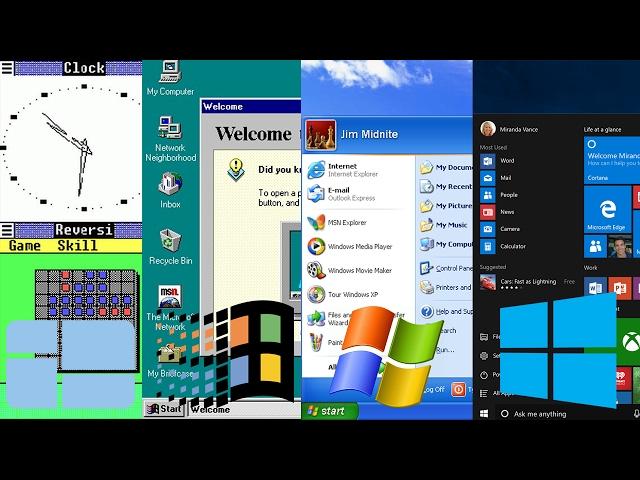 History of Microsoft Windows (Windows 1.0 - 10)