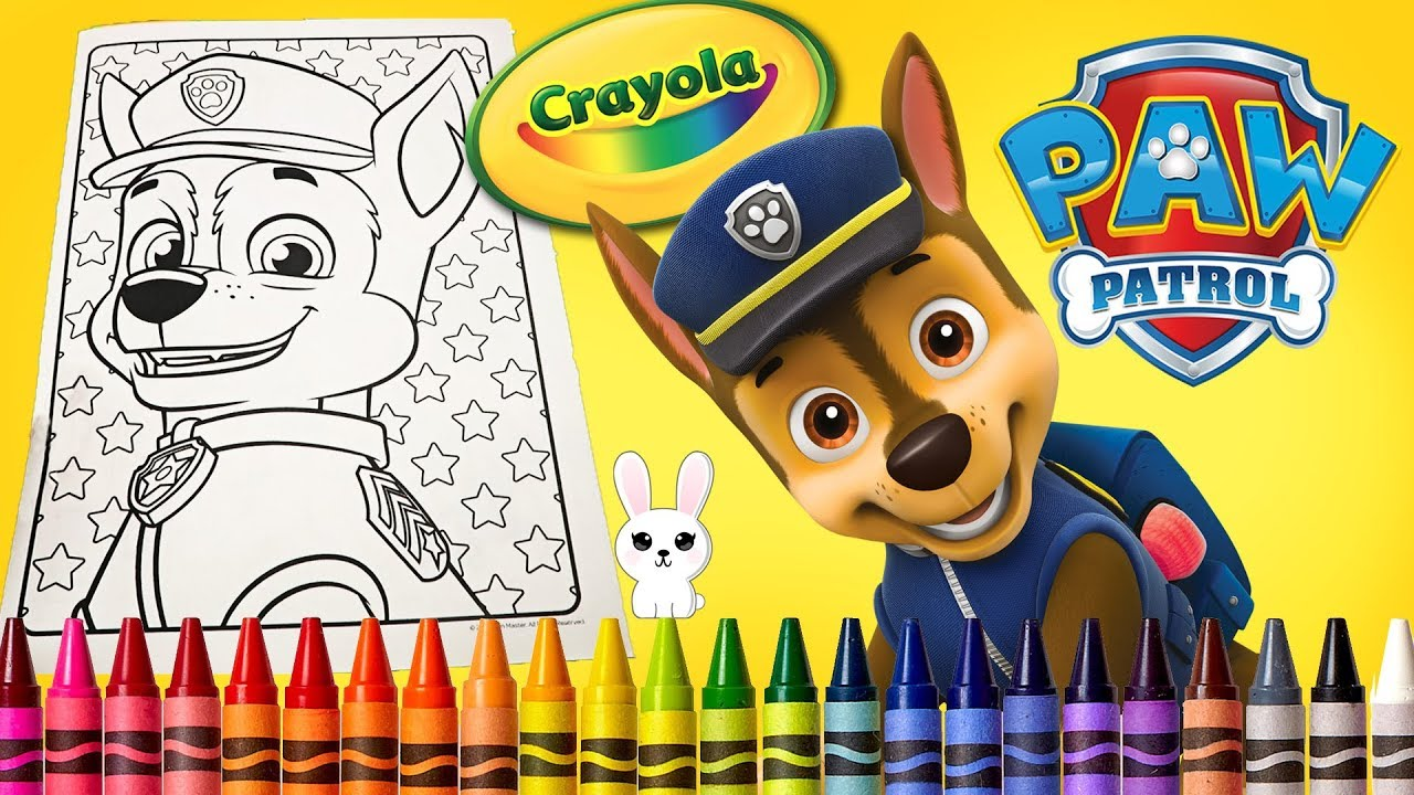 Learn Colors Paw Patrol Jumbo Coloring Book Page Ferfertoys