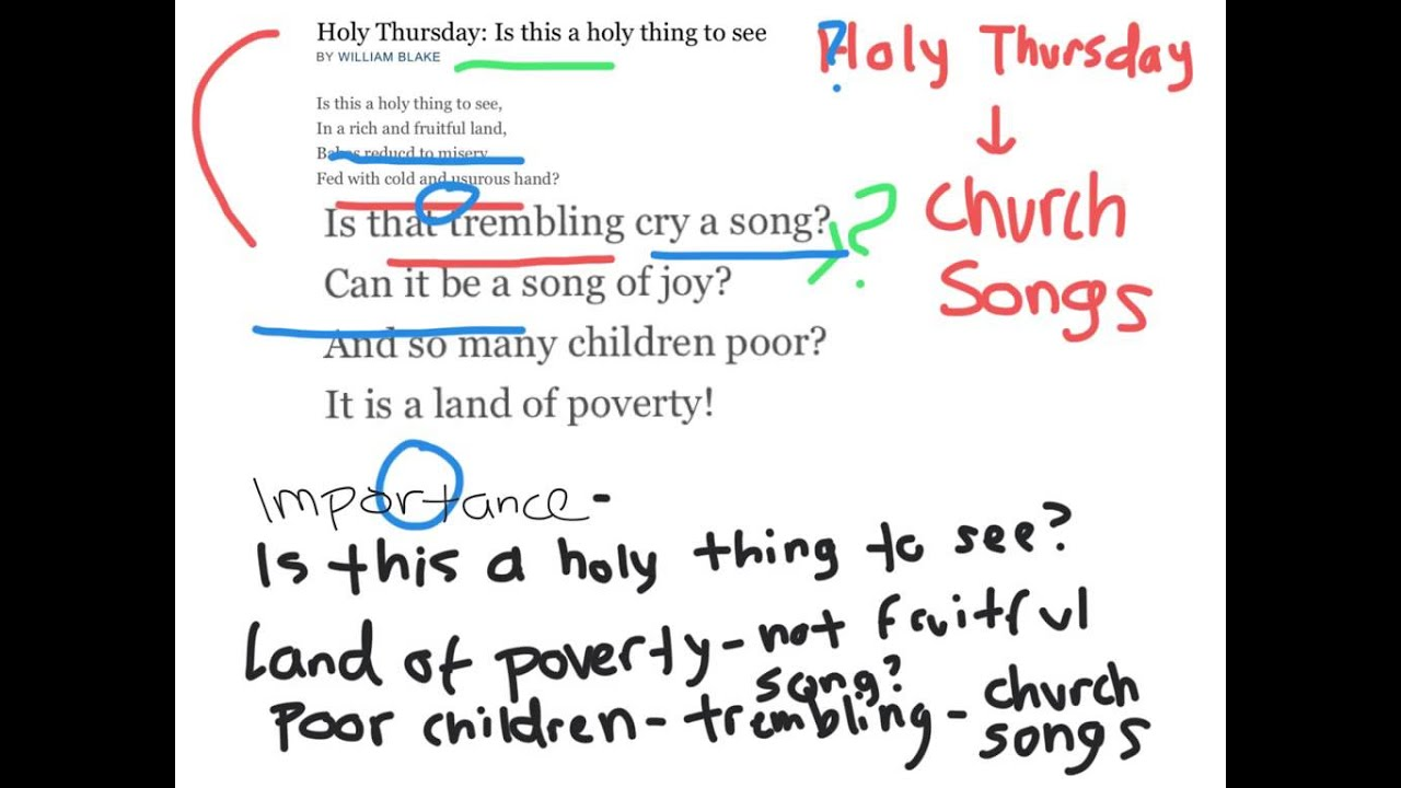 holy thursday poetry analysis holy thursday poetry analysis
