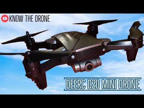 DEERC D20 Mini Drone Review | Unboxing, Flight Test, Camera Test