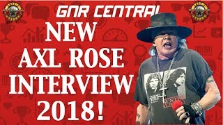 Guns N' Roses News  Axl Rose GIves First Interview of 2018