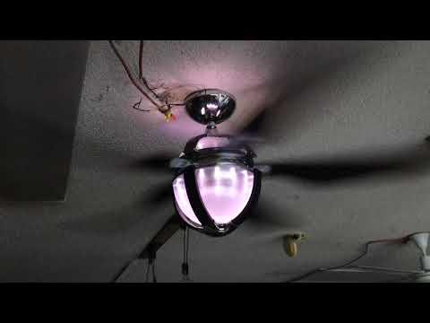 Casablanca scandia ceiling fan (black and chrome version)
