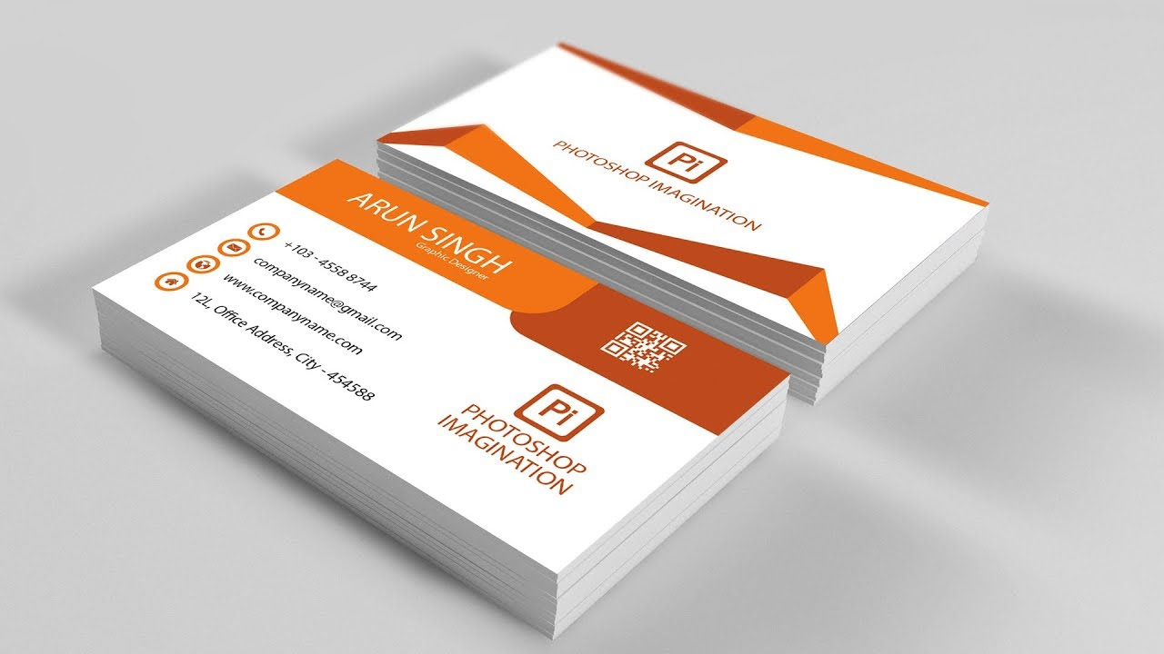 Business Card Design - Adobe Illustrator CC - YouTube