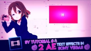 SV tutorial #3 ★2 AE text effect in sv★ [Request]