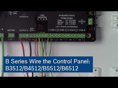 B Series Control Panels: Wire The Control Panel