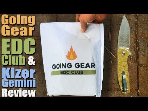 Unboxing the New Going Gear EDC Club plus Laconico Kizer Gemini Review.  Only $60 a month?
