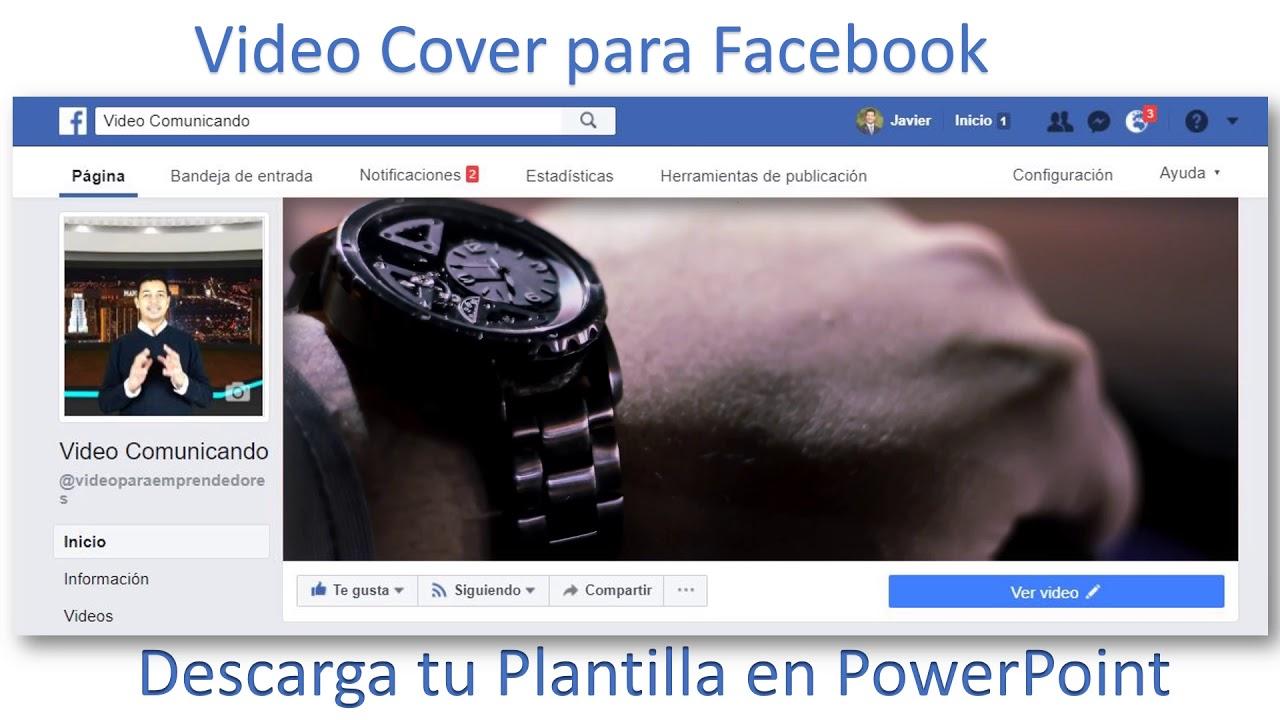 Plantilla de PowerPoint para Cover de Facebook - YouTube