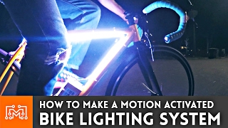 Motion Activated Bike Lighting Prototype (using Arduino 101) // How To