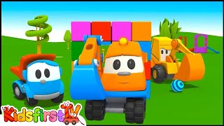 SKOOP UP, SKOOP! - Leo the Truck Cartoons for Kids