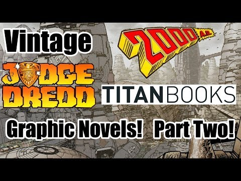 Vintage Judge Dredd And 2000AD Titan Books Graphic Novels - Part Two!