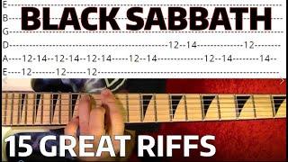 Black Sabbath - 15 Great Riffs - Guitar Lesson WITH TABS