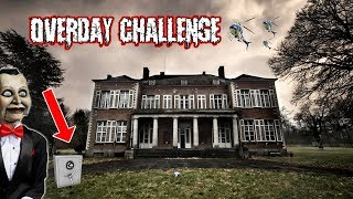 (SECRET SAFE?) OVERDAY CHALLENGE AT ABANDONED HOTEL | I FOUND A GIANT SAFE AND HELICOPERS SHOWED UP