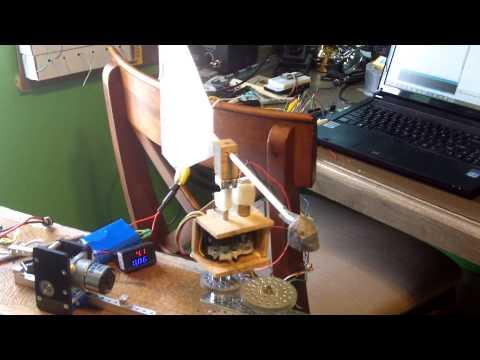 Wind vane motor under arduino control with hall effect sensors