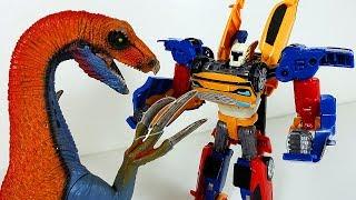 ТОБОТЫ Мультик Трансформеры Машинки vs Динозавров * Собираем Тобота из трех машинок Игрушки Роботы