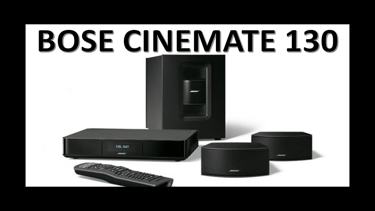 bose cinemate 130 home theater system youtube. Black Bedroom Furniture Sets. Home Design Ideas
