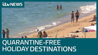 Green list of travel destinations for travellers in England revealed | ITV News