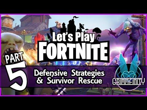 Fortnite Part 5: Defensive Strategies and Survivor Rescue