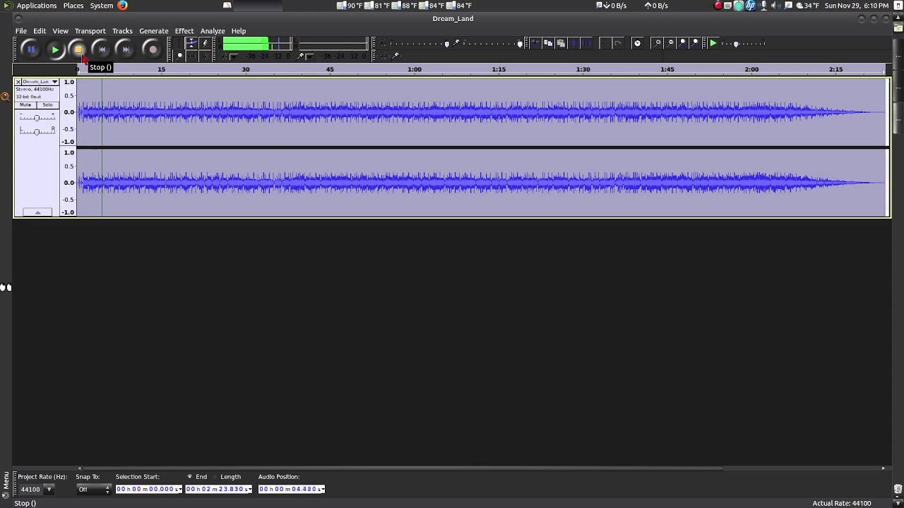 Audacity - Increase And Decrease The Volume Of Audio