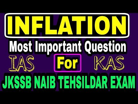 Inflation | Most important question for | Jkssb Naib Tehsildar | jk police Sub Inspector Exam