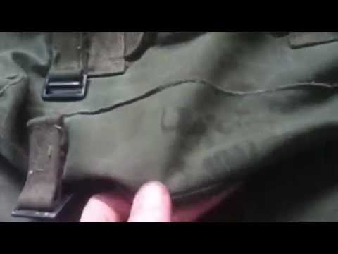 World War Two US m1944 modified to m1945 field pack And M43 Jacket
