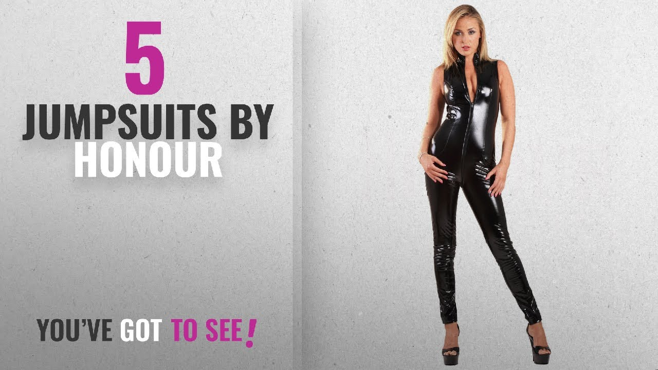Top 10 Honour Jumpsuits  2018   Honour Women s Sexy Catsuit in High ... 81b1180a5