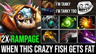 When This Fish Gets Fat Noone Can Defeat Him [Slark] Ultimate Carry 2xRAMPAGE Delete BB & Spec Dota2