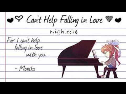 【Doki Doki Literature Club】Can't Help Falling in Love Monika Cover NIGHTCORE VERSION