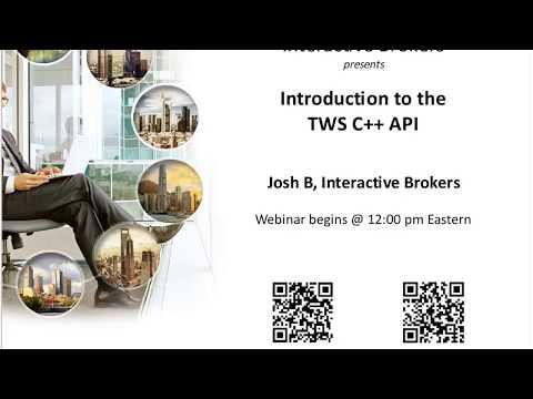 Introduction to the TWS C++ API